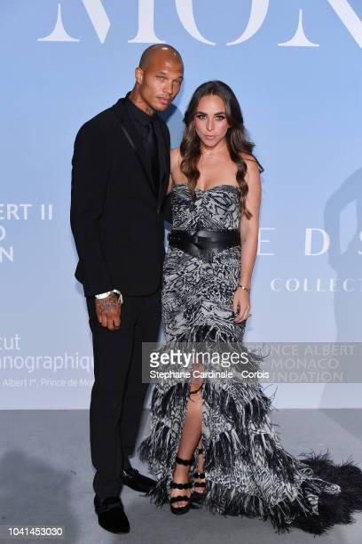 Jeremy Meeks and Chloe Green attend the MonteCarlo Gala for the Global Ocean 2018 on September 26 2018 in MonteCarlo Monaco