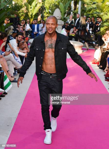 Jeremy Meeks attends the/walks the runway at the Philipp Plein Cruise Show 2018 during the 70th annual Cannes Film Festival at on May 24 2017 in...