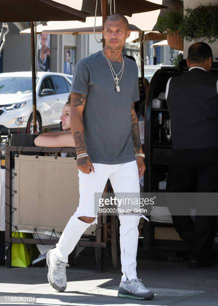 Jeremy Meeks is seen on August 21, 2019 in Los Angeles, California.
