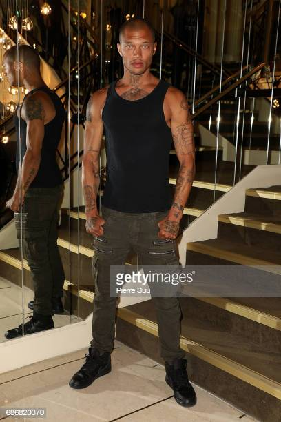Jeremy Meeks is spotted at the 'Majestic' hotel during the 70th annual Cannes Film Festival on May 22 2017 in Cannes France