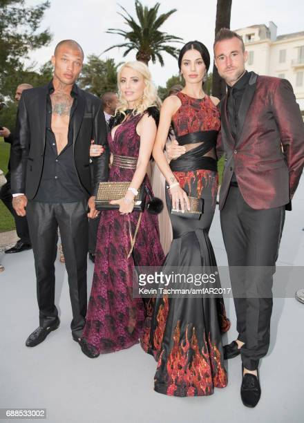 Jeremy Meeks Juliane Dalla Pria Andreea Sasu and Philipp Plein attend the amfAR Gala Cannes 2017 at Hotel du CapEdenRoc on May 25 2017 in Cap...
