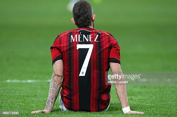 Jeremy Menez of AC Milan during the Serie A match between AC Milan and Hellas Verona FC at Stadio Giuseppe Meazza on March 7 2015 in Milan Italy