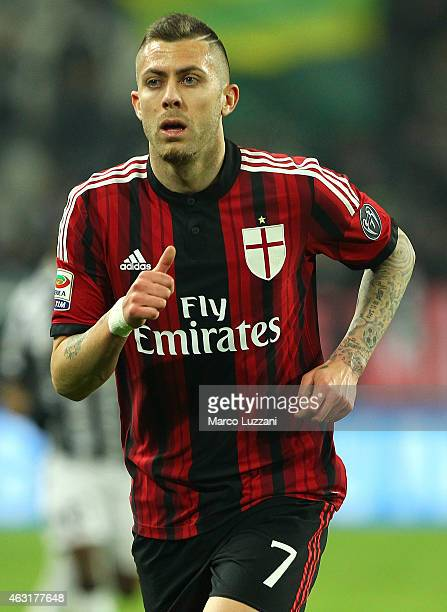 Jeremy Menez of AC Milan looks on during the Serie A match between Juventus FC and AC Milan at Juventus Arena on February 7 2015 in Turin Italy