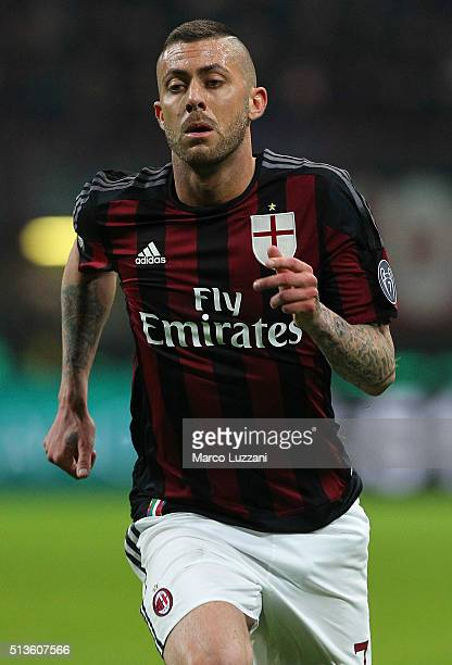 Jeremy Menez of AC Milan looks on during the TIM Cup match between AC Milan and US Alessandria at Stadio Giuseppe Meazza on March 1 2016 in Milan...