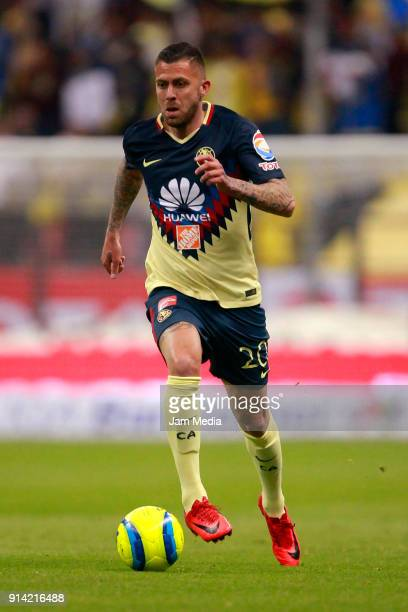 Jeremy Menez of America drives the ball during the 5th round match between America and Lobos BUAP as part of the Torneo Clausura 2018 Liga MX at...