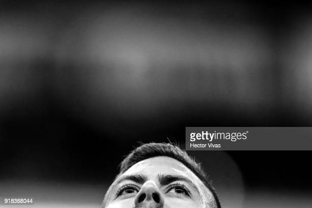 Jeremy Menez of America looks on during the 7th round match between America and Monarcas as part of the Torneo Clausura 2018 Liga MX at Azteca...