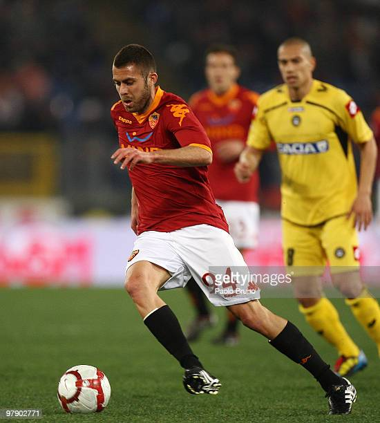 Jeremy Menez of AS Roma in action during the Serie A match between AS Roma and Udinese Calcio at Stadio Olimpico on March 20, 2010 in Rome, Italy.