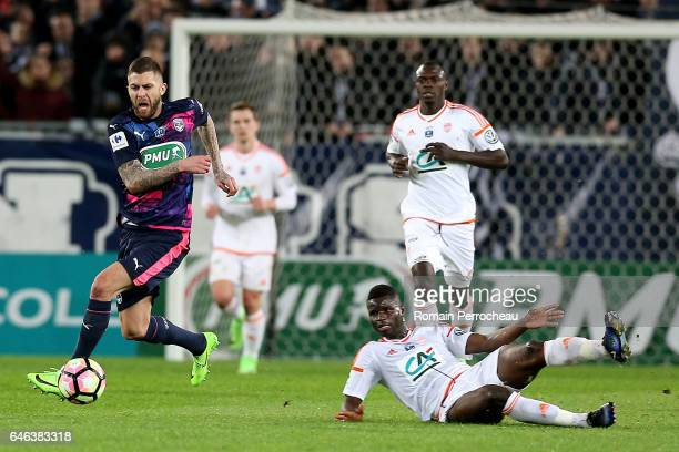 Jeremy Menez of Bordeaux in action during a French cup match between Bordeaux and Lorient at Stade Matmut Atlantique on February 28 2017 in Bordeaux...