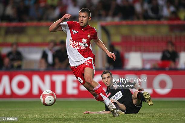 Jeremy Menez of Monaco in action during the Ligue 1 match between Monaco and Lyon at the Stade Louis II May 19 2007 in Monte Carlo Monaco