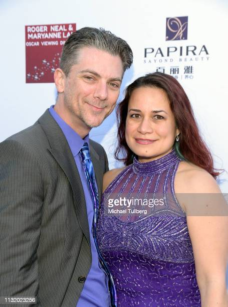Jeremy Miller and Joanie Miller attend the 4th annual Roger Neal Oscar Viewing Dinner Icon Awards and after party at Hollywood Palladium on February...