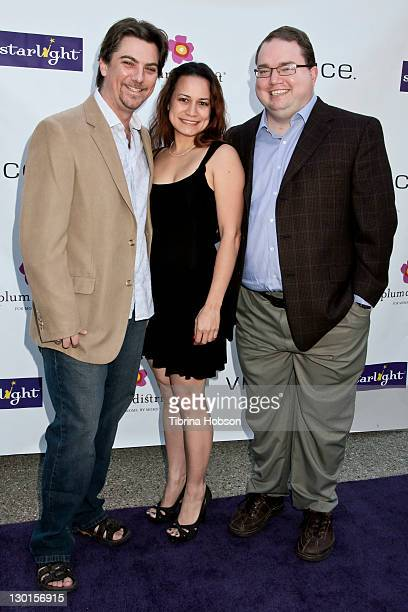 Jeremy Miller Joanie Miller and guest attend the 2011 Starlight Children's Foundation's Design and Wine Fundraiser at Kathy Hilton's residence on...