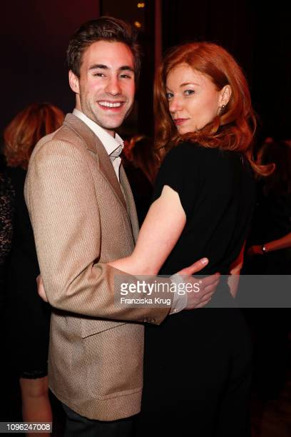 Jeremy Mockridge and Marleen Lohse during the BUNTE BMW Festival Night at Restaurant Gendarmerie on February 8 2019 in Berlin Germany