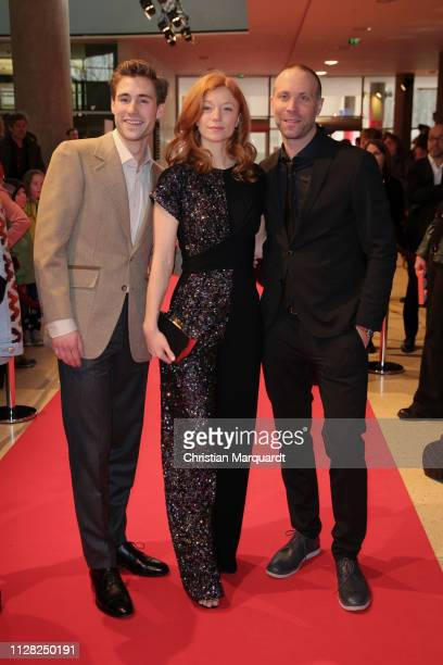 Jeremy Mockridge Marleen Lohse and Erik Schmitt attend the premiere of the film CLEO during the 69th Berlinale International Film Festival at Haus...