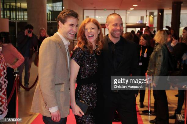 "Jeremy Mockridge, Marleen Lohse and Erik Schmitt attend the premiere of the film ""CLEO"" during the 69th Berlinale International Film Festival at Haus..."