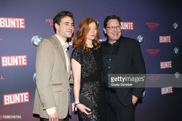 Jeremy Mockridge Marleen Lohse Robert Poelzer during the BUNTE BMW Festival Night at Restaurant Gendarmerie during the 69th Berlinale Filmfestival on...