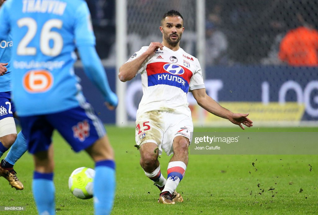 Jeremy Morel of Lyon during the French Ligue 1 match between Olympique Lyonnais (OL) and Olympique de Marseille (OM) at Groupama Stadium on December 17, 2017 in Lyon, France.