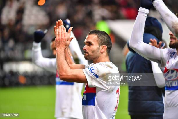Jeremy Morel of Lyon following the Ligue 1 match between Amiens SC and Olympique Lyonnais at Stade de la Licorne on December 10 2017 in Amiens France