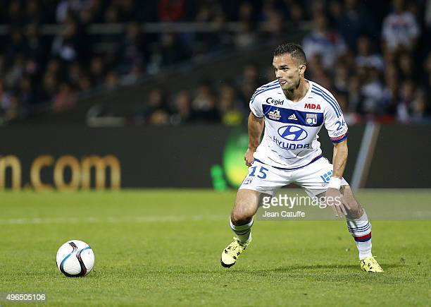 Jeremy Morel of Lyon in action during the French Ligue 1 match between Olympique Lyonnais and AS SaintEtienne at Stade de Gerland on November 8 2015...