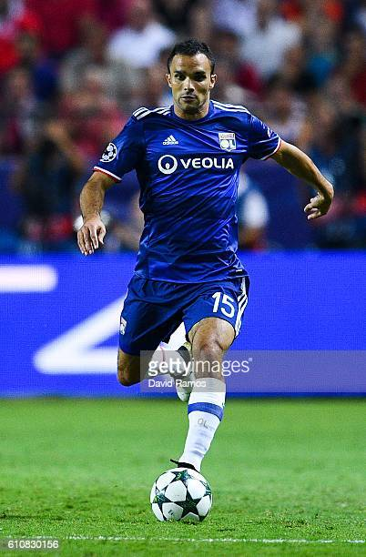 Jeremy Morel of Olympique Lyonnais during the UEFA Champions League Group H match between Sevilla FC and Olympique Lyonnais at the Ramon...