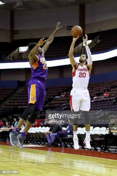 Jeremy Morgan of the Memphis Hustle shoots the ball against Northern Arizona Suns during an NBA GLeague game on February 21 2018 at Landers Center in...