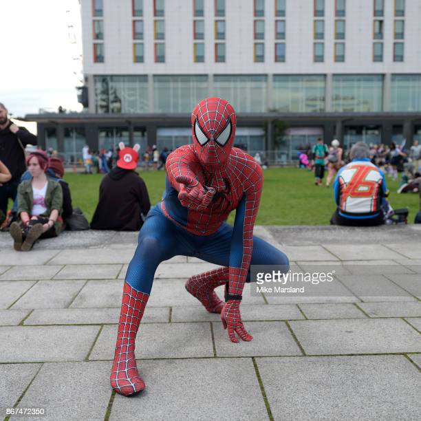 Jeremy Morley dressed in cosplay at MCM London Comic Con 2017 held at the ExCel on October 28 2017 in London England