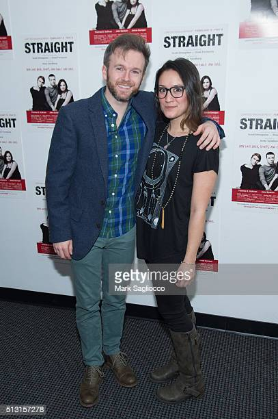 Jeremy Morse and Alex Tripp attend the 'Straight' opening night at the Acorn Theatre on February 29 2016 in New York City
