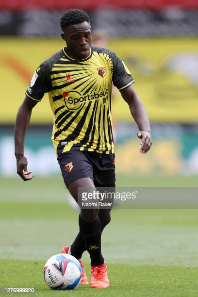 Jeremy Ngakia of Watford in action during the Sky Bet Championship match between Watford and Luton Town at Vicarage Road on September 26 2020 in...
