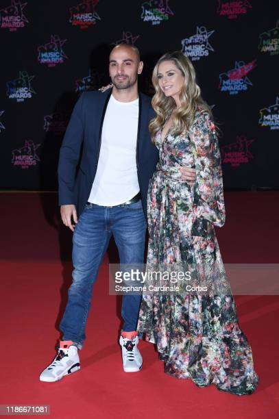 Jeremy Olivier and wife Clara Morgane attend the 21st NRJ Music Awards At Palais des Festivals on November 09 2019 in Cannes France