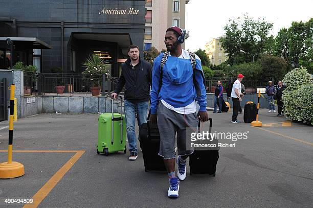 Jeremy Pargo #11 of CSKA Moscow during the CSKA Moscow Arrival to Marriot Hotel Milan as part of Turkish Airlines Euroleague Final Four on May 14...
