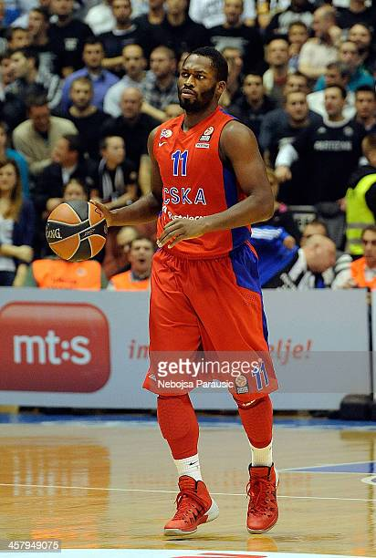 Jeremy Pargo #11 of CSKA Moscow in action during the 20132014 Turkish Airlines Euroleague Regular Season Date 10 game between Partizan NIS Belgrade v...