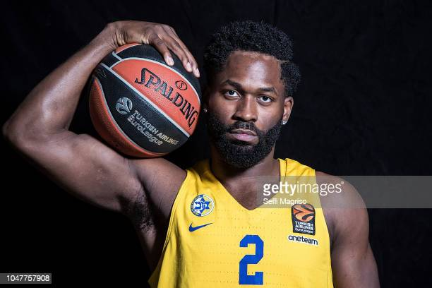 Jeremy Pargo #2 poses during the Maccabi Fox Tel Aviv 2018/2019 Turkish Airlines EuroLeague Media Day at Menora Mivtachim Arena on October 8 2018 in...