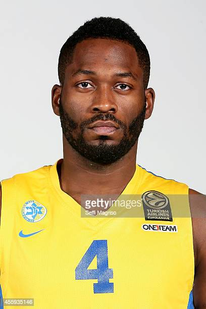 Jeremy Pargo #4 poses during the Maccabi Electra Tel Aviv 2014/2015 Turkish Airlines Euroleague Basketball Media Day at Nokia Arena on September 21...