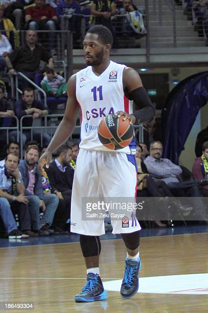 Jeremy Pargo of CSKA Moscow in action during the 20132014 Turkish Airlines Euroleague Regular Season Date 3 game between Fenerbahce Ulker Istanbul v...