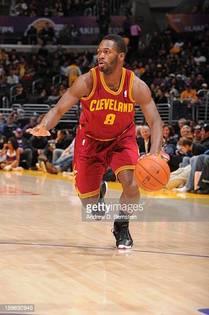 Jeremy Pargo of the Cleveland Cavaliers dribbles the ball against the Los Angeles Lakers at Staples Center on January 13 2013 in Los Angeles...