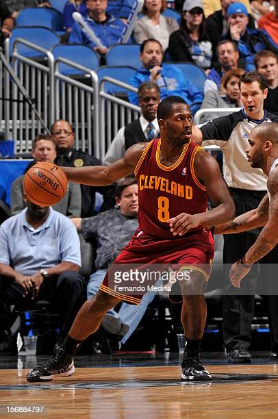 Jeremy Pargo of the Cleveland Cavaliers handles the ball against the Orlando Magic on November 23 2012 at Amway Center in Orlando Florida NOTE TO...