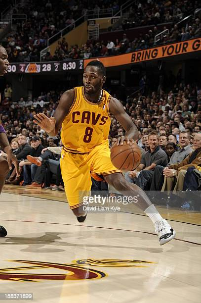 Jeremy Pargo of the Cleveland Cavaliers handles the ball against the Los Angeles Lakers at The Quicken Loans Arena on December 11 2012 in Cleveland...