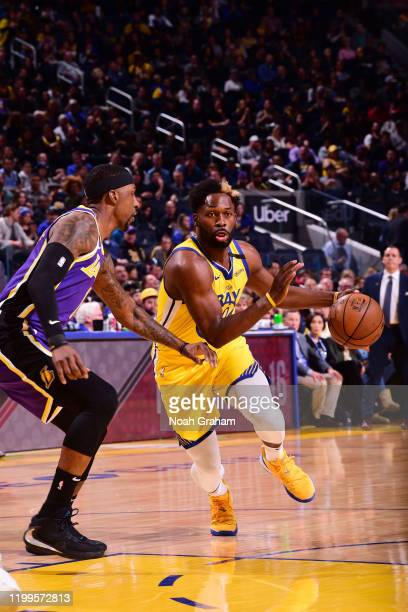Jeremy Pargo of the Golden State Warriors handles the ball against the Los Angeles Lakers on February 8 2020 at Chase Center in San Francisco...