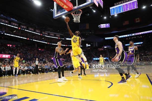 Jeremy Pargo of the Golden State Warriors shoots against the Los Angeles Lakers on February 8 2020 at Chase Center in San Francisco California NOTE...
