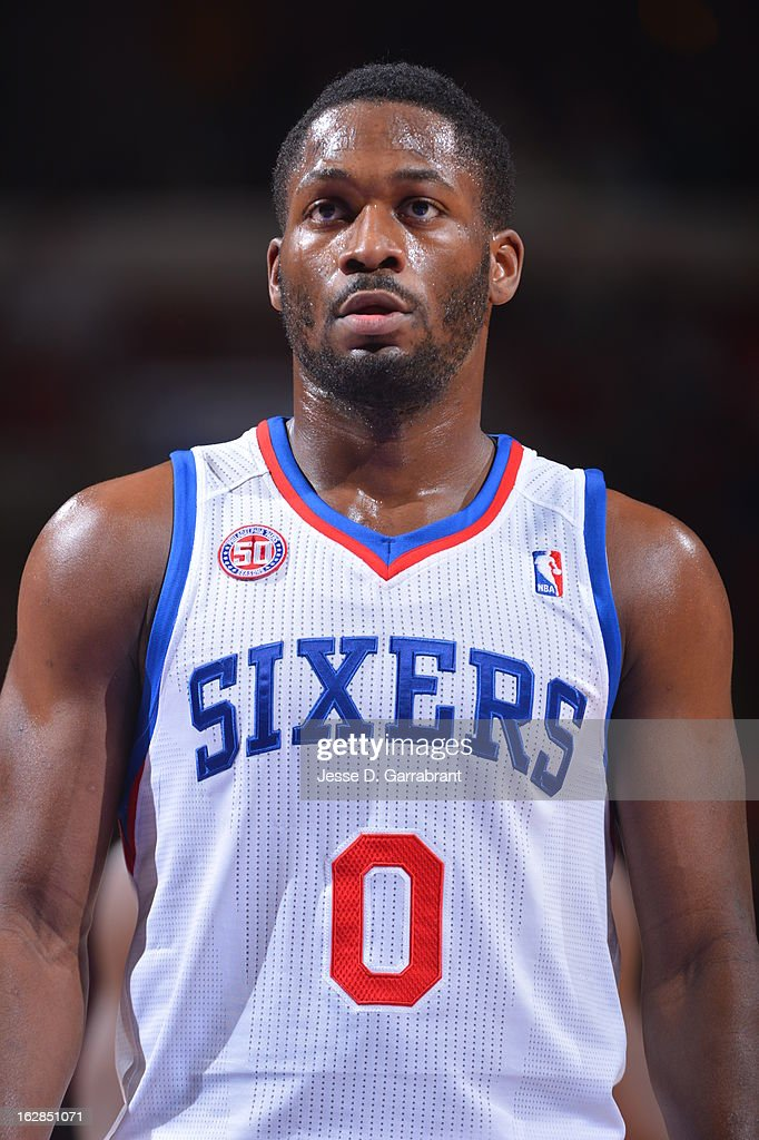 Jeremy Pargo #0 of the Philadelphia 76ers stands on the court against the Orlando Magic at the Wells Fargo Center on February 26, 2013 in Philadelphia, Pennsylvania.