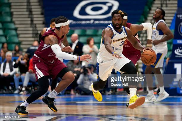 Jeremy Pargo of the Santa Cruz Warriors brings the ball up court during an NBA GLeague game against the Texas Legends on November 25 2019 at the...