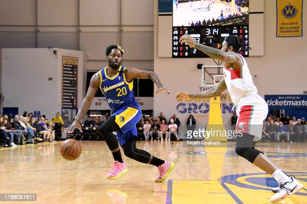 Jeremy Pargo of the Santa Cruz Warriors drives against the Memphis Hustle during an NBA GLeague game on February 1 2020 at the Kaiser Permanente...