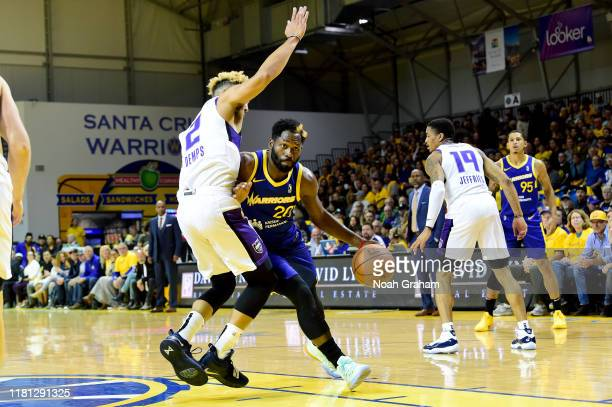 Jeremy Pargo of the Santa Cruz Warriors drives against the Stockton Kings during an NBA GLeague game on November 9 2019 at the Kaiser Permanente...