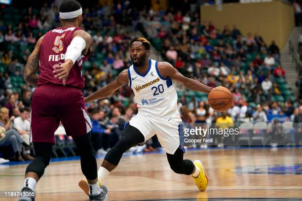 Jeremy Pargo of the Santa Cruz Warriors drives to the basket during an NBA GLeague game against the Texas Legends on November 25 2019 at the Comerica...