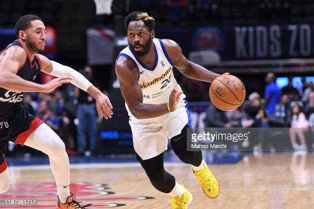 Jeremy Pargo of the Santa Cruz Warriors handles the ball against David Cannady of the Long Island Nets during an NBA GLeague game on December 6 2019...