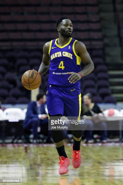 Jeremy Pargo of the Santa Cruz Warriors handles the ball against Memphis Hustle during an NBA GLeague game on March 10 2018 at Landers Center in...