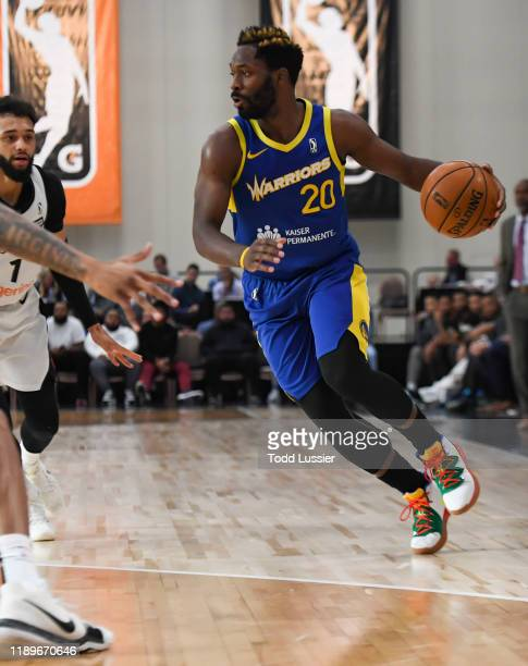 Jeremy Pargo of the Santa Cruz Warriors moves the ball against the Raptors 905 during the NBA G League Winter Showcase at Mandalay Bay Events Center...