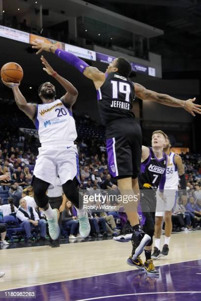 Jeremy Pargo of the Santa Cruz Warriors puts up a jumper against the Stockton Kings at Stockton Arena on November 8 2019 in Stockton California NOTE...
