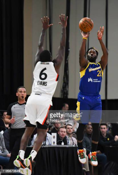 Jeremy Pargo of the Santa Cruz Warriors shoots the ball against the Raptors 905 during the NBA G League Winter Showcase at Mandalay Bay Events Center...
