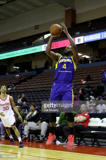 Jeremy Pargo of the Santa Cruz Warriors shoots the ball against the Memphis Hustle during an NBA GLeague game on March 10 2018 at Landers Center in...