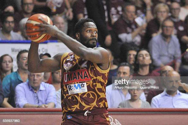 Jeremy Pargo of Umana in action duriing the LegaBsaket Serie A match between Reyer Umana Venezia and EA7 Emporio Armani Olimpia Milano at Palasport...